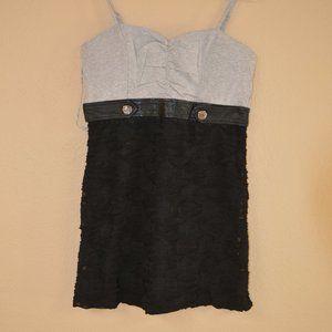 NWT Black & Gray Mini Dress Cotton/Poly Blend